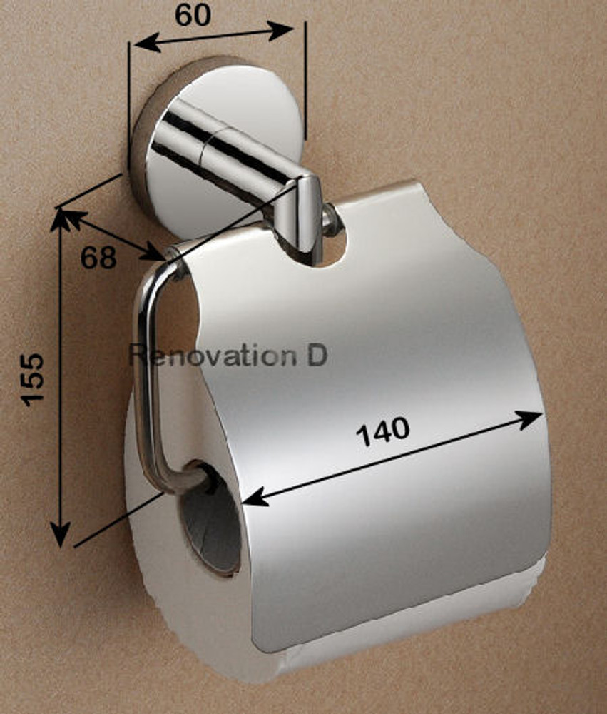 Project Round Stainless Steel Toilet Paper Holder - Cover