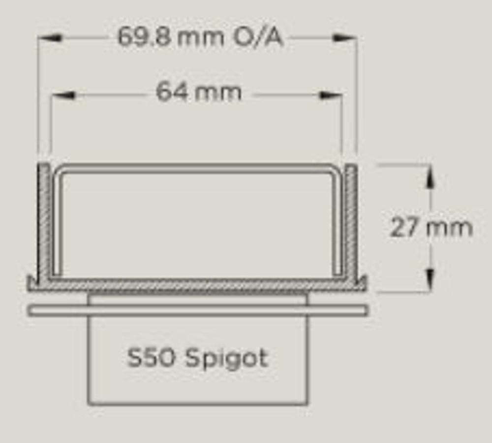 Linear Floor Waste Grate Kits 65PSG25 Plastic Channel -