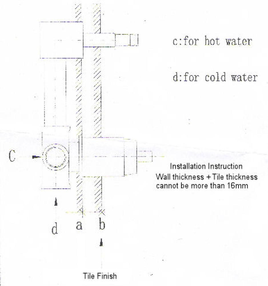 Lollypop Bath Spout and Mixer Tap Combination