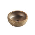 Above Counter Round Art Basin - Gold Finish 73AG