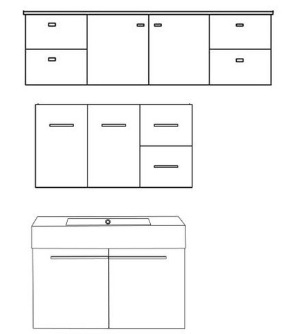 Evolution Combination Vanity (Door & Drawer)- Any Length