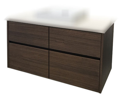 Chiron SIX Vanity with Stone Bench & Benchtop Basin 1800mm Wall Mounted HA