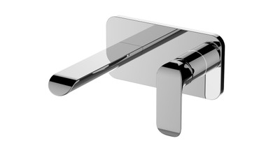ikon KARA Wall Mixer and Spout Combination Unit - Chrome