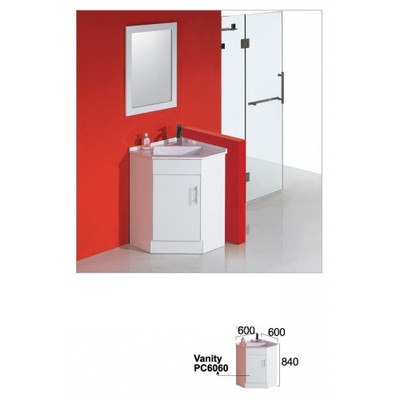 Normandy CORNER VANITY UNIT 600MM X 600MM X 840MM