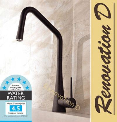 Lollypop ROC Kitchen Mixer Tap - BLACK