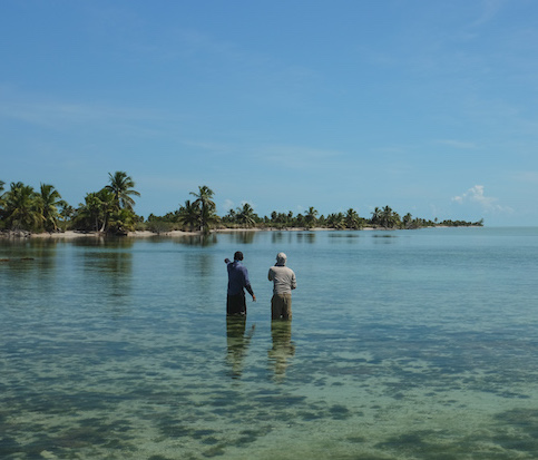 Hunting for bonefish and permit on a Belizean flat