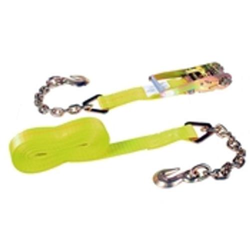 "2"" x 30' Ratchet & Strap w/ Chain anchors"