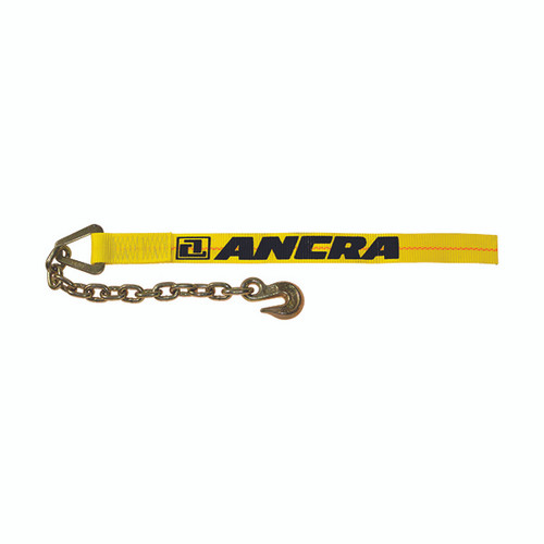 """2"""" x 30' Winch Strap with Chain Hook Anchor Assembly"""