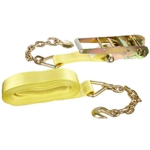"3"" x 30' Ratchet & Strap w/ Chain & Hook"