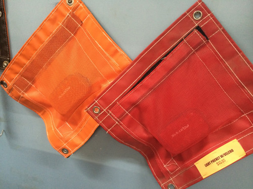 Light Pocket with Velcro Orange or Red