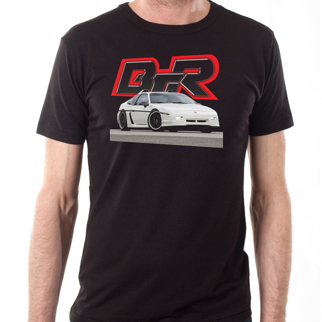 Black Top Racing Black Men's Pontiac Fiero T-Shirt