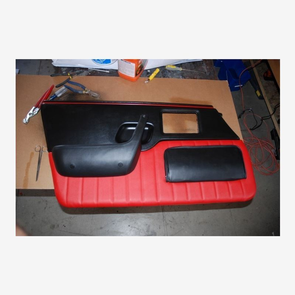 Pontiac Fiero Custom Door Panel Upholstery Kit with Vertical Stitching
