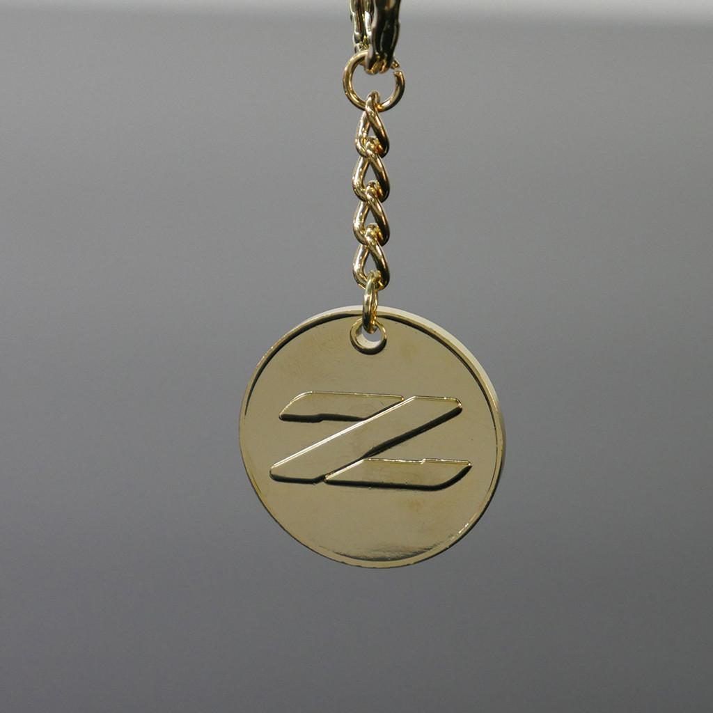 BTR Gold Nissan 300zx JDM Medallion Keychain