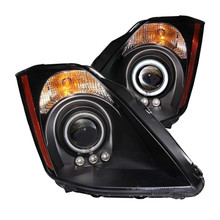 Anzo Nissan 350z Projector Headlights with Halo - Black Housing