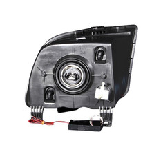 Anzo 05-09 Ford Mustang Projector Headlights with Single Halo - Black Housing