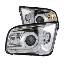 Anzo 05-09 Ford Mustang Projector Headlights with Halo (2010 Style) - Chrome Housing