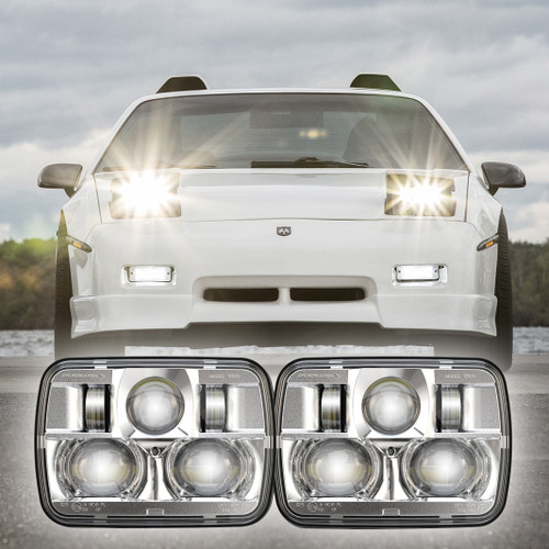 84-88 Pontiac Fiero LED Headlight Housings - JW Speaker 8900 Evolution 2 (Chrome)