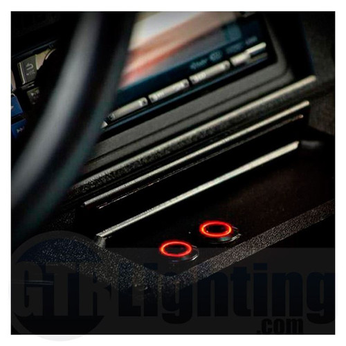 GTR Lighting LED Halo Switch: Stainless Steel Bezel, Latching Switch