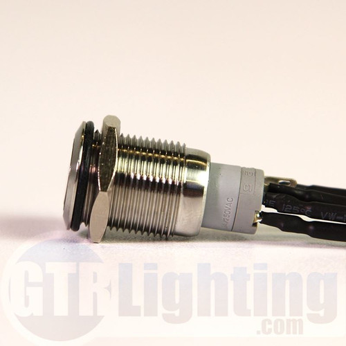 GTR Lighting LED Halo Switch: Stainless Steel Bezel, Momentary Switch