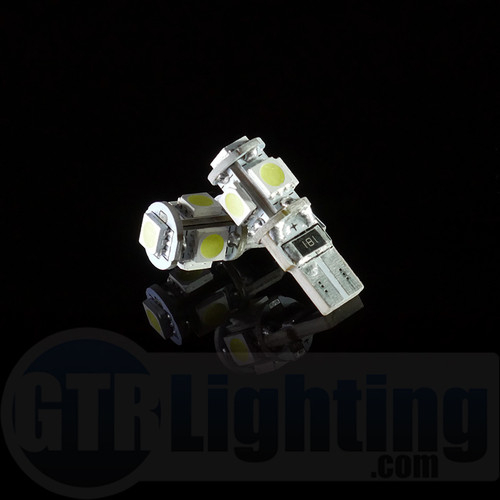 GTR Lighting T10 / 194 / 168 5-LED CANBUS Bulbs