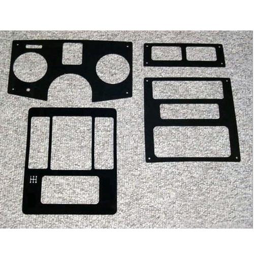 Pontiac Fiero Black Tinted Lexan Dash Trim Kit