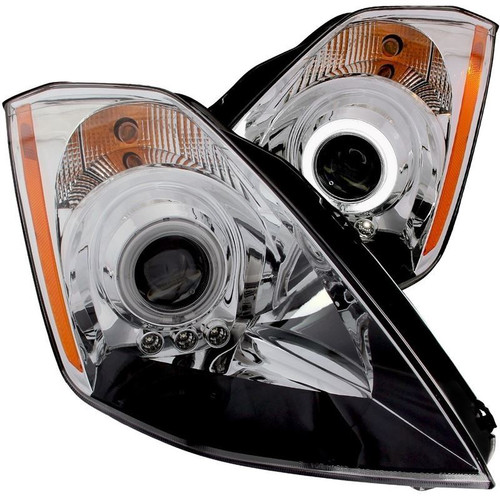 Anzo Nissan 350z Projector Headlights with Halo - Chrome Housing