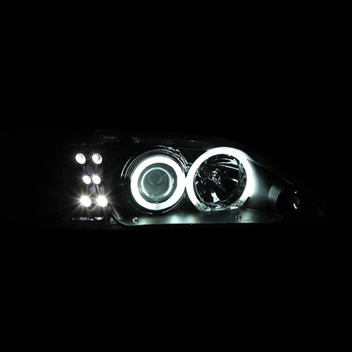 Anzo 94-98 Ford Mustang Projector Headlights with Halos - Black Housing