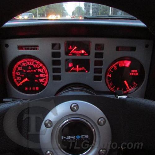 85MPH GAUGE CLUSTER LED BULBS (Speedo / Tach) Pontiac Fiero 1984 - 1988 LED Light Bulbs Upgrade Kit