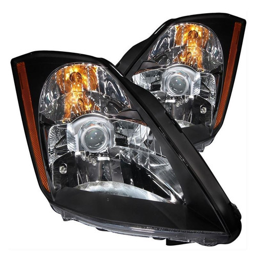 Anzo 03-05 Nissan 350Z Headlights - Crystal Lens, Black Housing