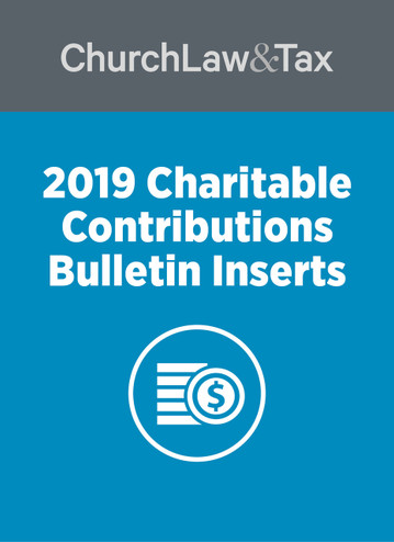 2019 Charitable Contributions Bulletin Inserts
