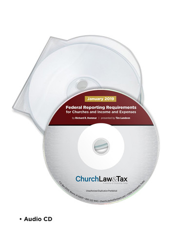 Federal Reporting Requirements for Churches 2019