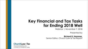 Key Financial and Tax Tasks for Ending 2018 Well