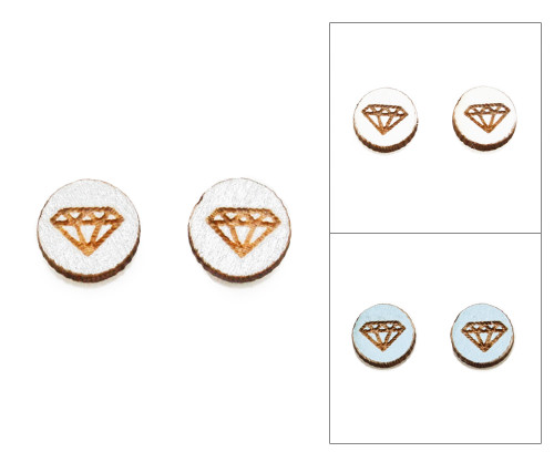 Cameo Post Earring - Diamond