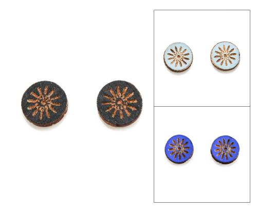 Cameo Post Earring - Modern Floral (Starburst)