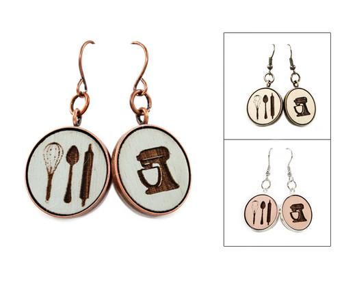 Large Dangle Earrings - Baker