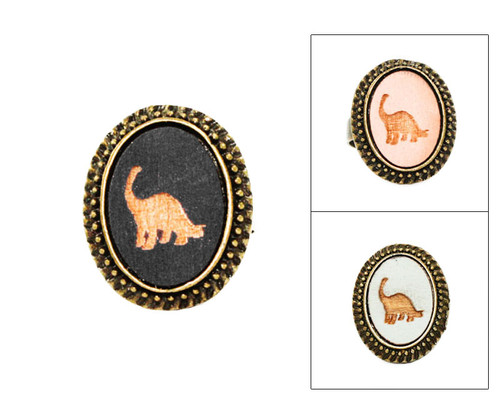 Large Cameo Ring - Brontosaurus
