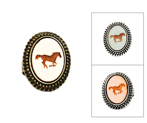 Large Cameo Ring - Horse (Galloping)