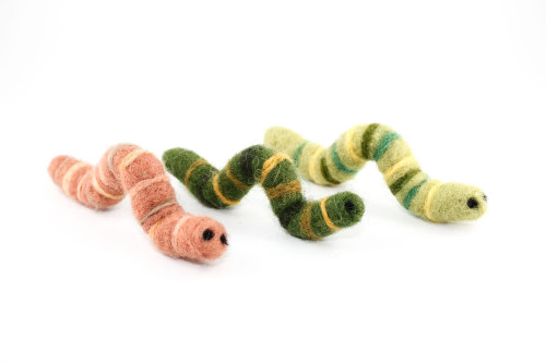 Needle Felted Caterpillar or Worm