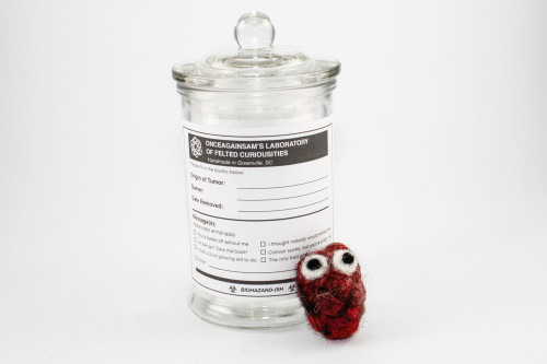 Felted Tumor in Specimen Jar (Quirky Get Well Gift)