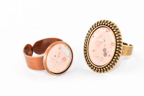 Splatter Painted Ring - Rose Gold (Choose Your Setting)