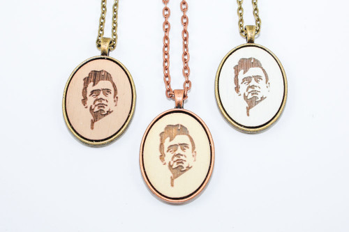 Small Cameo Pendant - Johnny Cash