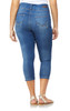 Plus Size Sassy High Waisted Crop Jeans In Luna