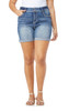 Plus Size Luscious Curvy Embroidered Shorts In Hilaria