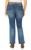 Plus Size Belted Legendary Slim Bootcut Jeans In Galaxy