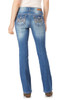 Luscious Curvy Embellished Bootcut Jeans In Hello Dolly