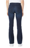 Elastic Waistband Pull On Bootcut Jeans In Moody Blue