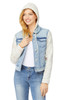 Core Striped Denim Hooded Jacket In Lady