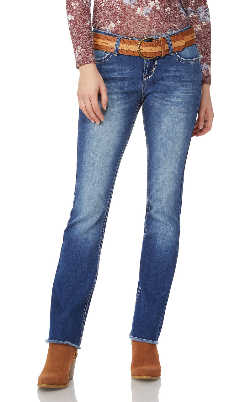 d27a4b0d2cb Legendary Belted Bootcut Jeans In Michelle - WallFlower Jeans