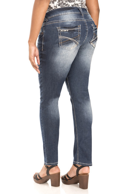 Plus Size Luscious Curvy Skinny Jeans In Katy