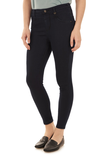 High Waisted Pull On Ankle Skinny Jeans In Esme